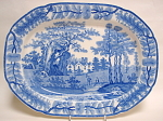 Davenport Tudor Mansion Blue Transfer Platter