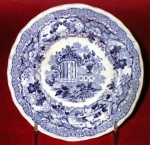 Adelaide's Bower Romantic Blue Cup Plate 1835