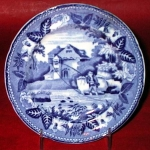 British Scenery Pearlware Toy Plate C 1825
