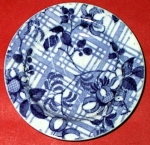 Trellis And Flowers Pearlware Doll Plate 1830