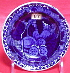 Blue Transferware Cup Plate With Fruit 1820