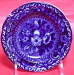 Blue Transfer Stubbs Fruit/flower Cup Plate