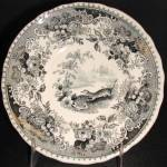 Black Transfer Indian Scenery Cup Plate 1835