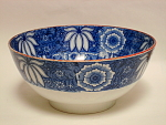 Blue Transfer Floral/geometric Bowl 1820
