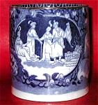 Pearlware Blue Transferware Mug 1820