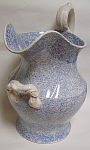 Blue Transfer Footbath Jug Chintz Pattern