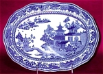 Chinoiserie Bone China Porcelain Platter 1800