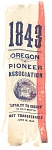 Oregon Pioneer Original Settler Reunion Ribbon 1843 To 1890