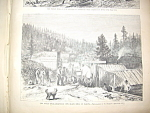 Deadwood Scene 1876 Harpers Weekly Newspaper