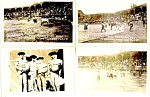 Bullfighter Photo Postcards Us Navy Atlantic Fleet Lima Peru Vintage
