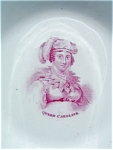 C.1821 Portrait Dish Of Queen Caroline. (King George Iv)