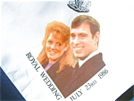 Wedding Scarf For Prince Andrew And Sarah Ferguson's Wedding.