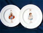 Pair Of 1911 Royal Doulton Plates - Coronation Of King George V.