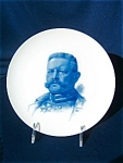 Portrait Plate Of Paul Von Hindenburg. (1847 - 1934 ) By Rosenthal.