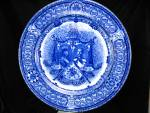 1911 Royal Doulton Flow Blue Coronation Plate.