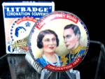 1937 Lit Pinback Badge/button King George Vi Coronation