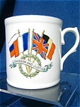 C.1914 Mug With Flags Of The Allies At The Outbreak Of World War I.