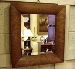 Maple Framed Beveled Mirror