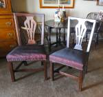 Four English Chippendale Mahogany Side Chairs