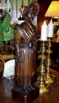 Carved Wooden Figure Of Welsh Lady