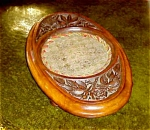 English Carved Oak Alms Tray