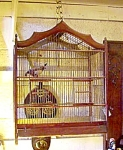 French Wooden Birdcage