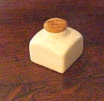 English White Pottery Inkwell