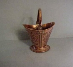 English Copper Miniature Coal Scuttle