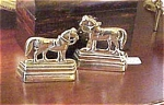 Pair Of Brass Horse Mantel Ornaments