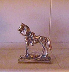 English Brass Miniature Horse Chimney Ornamen