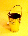 English Brass Miniature Fire Bucket