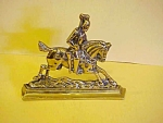 Brass Knight On A Horse Hearth Ornament