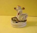 Staffordshire Swan Quill Holder