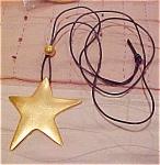 Star Pendant On Cord