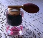 Clear Lucite Geometric Shape Perfume Atomizer