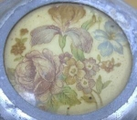 Victorian Musical Powder Box Floral Motif