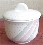 Churchill Pink Gray Shades Sugar Bowl