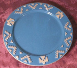 Frankoma Teal Native American Plate