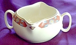 W S George Iroquois Red Gravy Boat