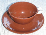 Homer Laughlin Suntone Cup And Saucer Set