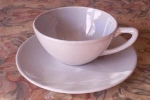Accent Solid Colors Gray Cup And Saucer