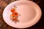 Knowles Orange Poppy Platter