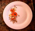 Knowles Orange Poppy Dinner Plate