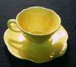 Metlox Lotus (Yellow) Cup And Saucer