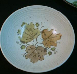 Metlox Woodland Gold Round Vegetable Dish
