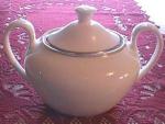 Elegant Wedgwood Platinum Sugar Bowl