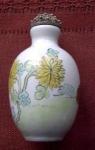 Lotus And Bird Porcelain Snuff Bottle