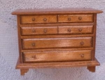 Wooden Doll House Chest Of Drawers
