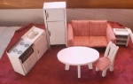50's Wooden Doll Furniture Set