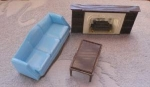 Plasco Dollhouse Living Room Set